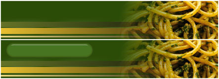 Pesto Spaghetti header banner Royalty Free Stock Photos