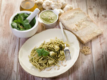 Pesto trofie typical genoa Stock Images