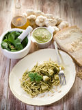Pesto trofie typical genoa Stock Image