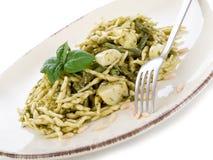 Pesto trofie typisch Genua Royalty-vrije Stock Fotografie