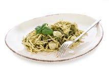 Pesto trofie typisches Genua Stockfotografie