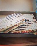 Pesto turkey sandwich stock photos