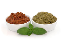 Pesto Varieties Royalty Free Stock Images