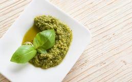 Pesto verde Imágenes de archivo libres de regalías
