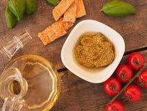 Pesto verde, Italian food Stock Images