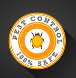 Pests icon, pest control 100% safe graphic flat design badge Royalty Free Stock Photo