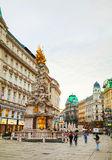 The Pestsaule (Plague Column) at Graben street in Vienna Royalty Free Stock Photography
