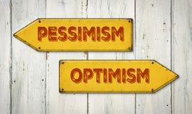 Pesymizm lub optymizm Fotografia Stock