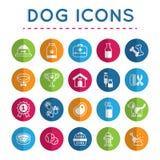 Pet: Σύνολο εικονιδίων σκυλιών Στοκ Εικόνες