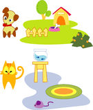 Pet. Clip art of cute pet vector illustration