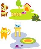 Pet. Clip art of cute pet Royalty Free Stock Photography