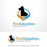 Pet Adoption Logo Template Design Vector Royalty Free Stock Photos