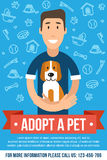 Pet adoption poster Royalty Free Stock Photography