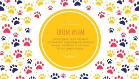 Pet advertising banner templates. Place for text. veterinary clinic and zoo shop. grooming. paw ornament. Pet advertising banner templates. Place for text vector illustration