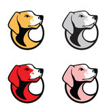Pet Animal Logo Illustration. This is pet dog logo shape Royalty Free Stock Photos