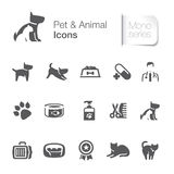 Pet & animal related icons stock illustration