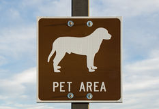 Pet Area Sign Stock Photo