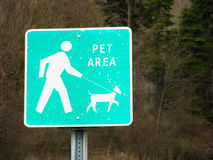 Pet Area Sign. A Pet Area Sign from a rest stop on i-84 in upstate New York Royalty Free Stock Photos