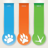 Pet banners Royalty Free Stock Image