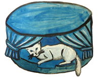 Pet beds for cats Royalty Free Stock Images