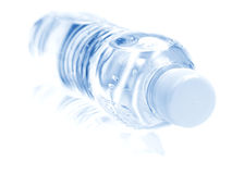 PET bottle. With drinking water isolated on white royalty free stock photo