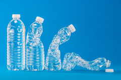 PET bottle that contains the water Royalty Free Stock Photo