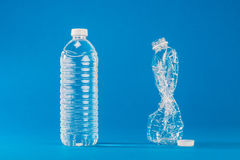 PET bottle that contains the water Stock Image