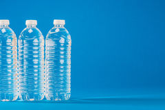 PET bottle that contains the water Stock Photos
