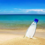 Pet bottle with water Royalty Free Stock Image