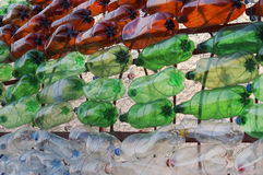 Pet bottles background Royalty Free Stock Photography