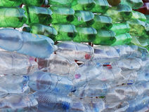 Pet bottles background Royalty Free Stock Image