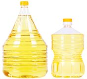 Pet bottles with oil Stock Images