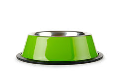 Pet bowl  on the white Royalty Free Stock Photography