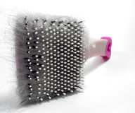 Pet Brush. A pet brush clogged with cat hair. Ew Royalty Free Stock Images