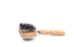 Pet brush with clump. On White Background Royalty Free Stock Photo