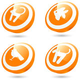 Pet button icons Royalty Free Stock Image
