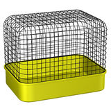 Pet cage. 3D rendering. Stock Photo