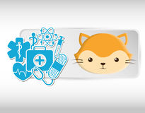 Pet care center service icons Stock Image