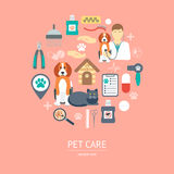 Pet care icon concept. Flat design. Vector Stock Photos