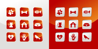 Pet care icons set royalty free stock images