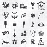 Pet Care icons set. illustration Royalty Free Stock Photos