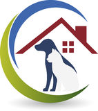 Pet care logo. Illustration art of a pet care logo with  background Stock Images