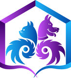 Pet care logo Royalty Free Stock Photo