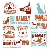 Pet Care Stamps Royalty Free Stock Photography
