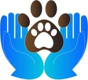 Pet care. A vector drawing represents pet care design stock illustration