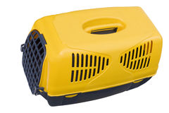 Pet carrier. For traveling with a pet Royalty Free Stock Photos