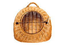 Pet carrier basket Royalty Free Stock Images