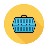 Pet carrier icon. Line flat vector related icon for web and mobile applications. It can be used as - pictogram, icon, infographic element. Vector Illustration Stock Image