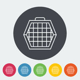 Pet carrier icon. Thin line flat vector related icon for web and mobile applications. It can be used as - logo, pictogram, icon, infographic element. Vector Royalty Free Stock Photos