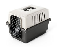 Pet carrier isolated on white background. 3D illustration Stock Image